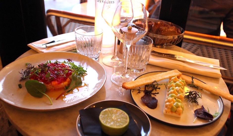 entrées originales - Restaurant Les fauves - exotic chic à Montparnasse