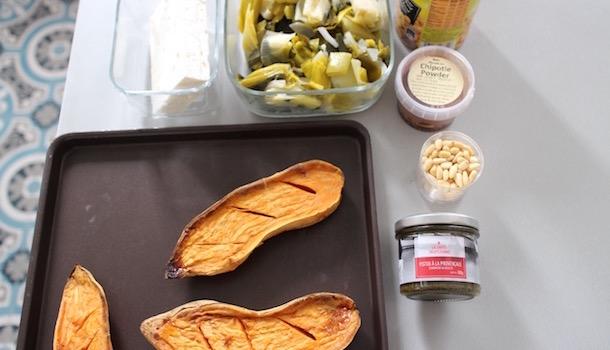 garnir les patates - Sexy Patate douce rôtie