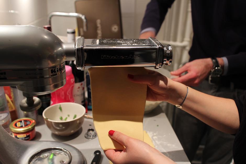 laminer les pâtes - Soirée Pasta La Vista Baby