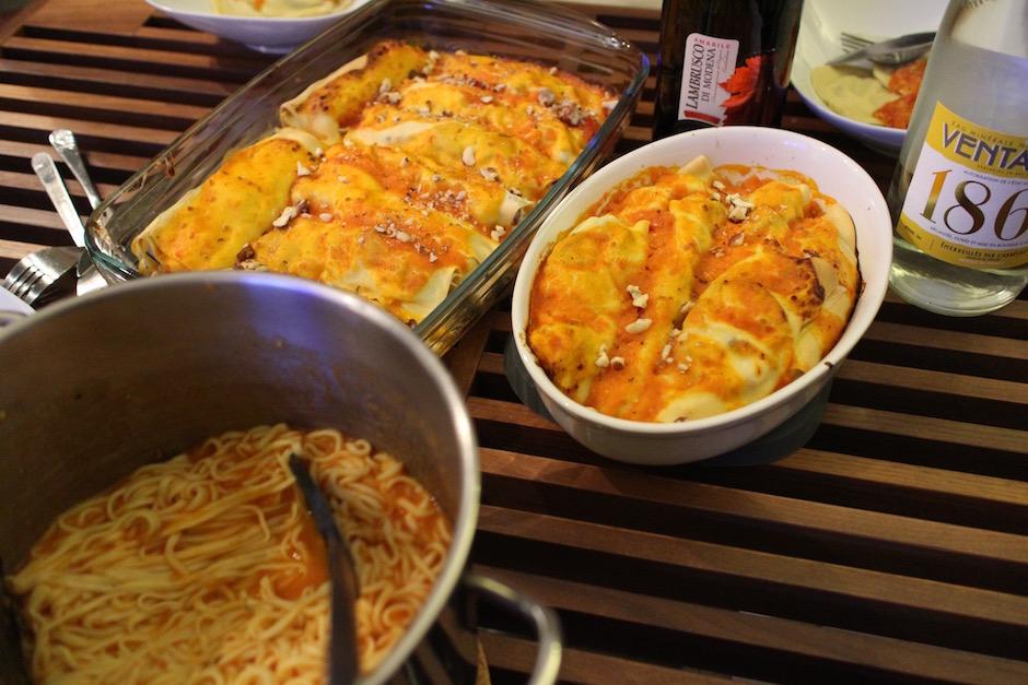spaghettis cannelonis - Soirée Pasta La Vista Baby