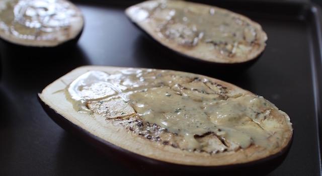 tartiner les aubergines de tahini - Veggie aubergine gourmande