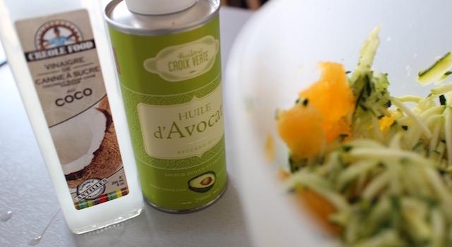 vinaigre de coco huile d'avocat - Salade Fresh Minimaliste
