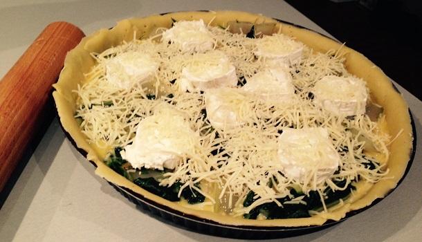 fromage sur la tarte aux blettes