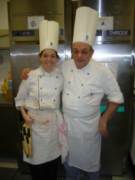 Chef bonnet et Mathilde Chiron Vatel Lyon promotion 2009