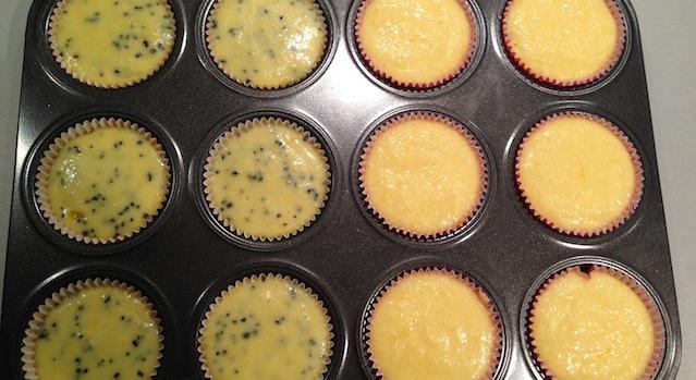 cupcakes lemon curd avant cuisson