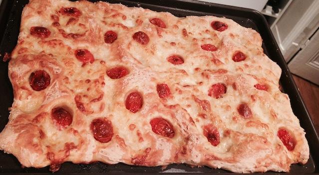 schiaciata tomate et mozarella