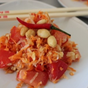 Salade de papaye verte de Koh Samui