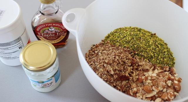 matières grasses naturelles du granola maison - Granola pistache naturel