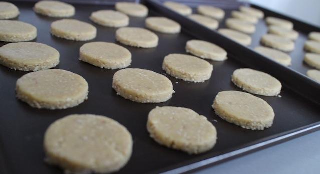 sablés découpés - Biscuits sablés au sésame