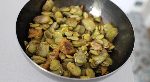 délicieuse salade cuite - Salade de fèves aux citrons confits