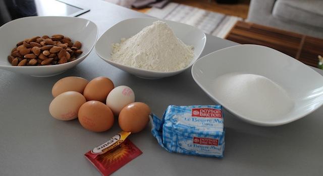 ingrédients des Cantuccini - le dessert toscan traditionnel