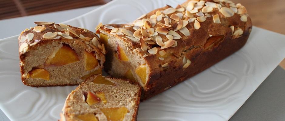 Cake aux nectarines a l'indice glycémique bas