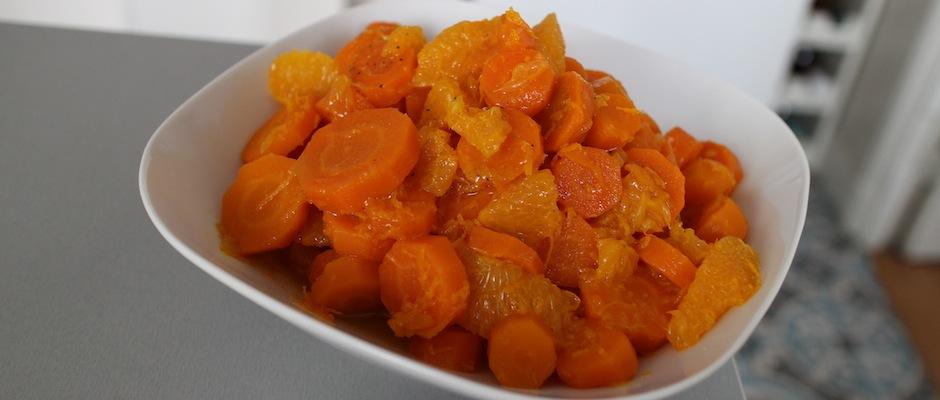 Salade cuite de carottes à la fleur d'oranger