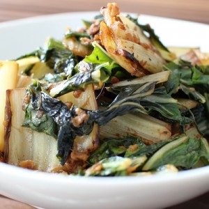 Salade de blettes a la coréenne façon kimchi