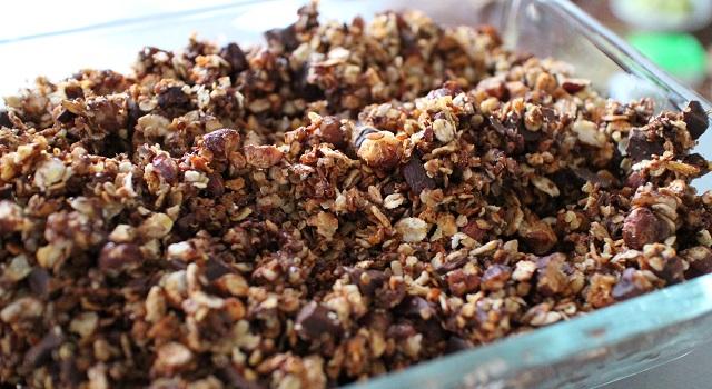 mélange gourmand et généreux - Céréales maison chocolat & noisettes