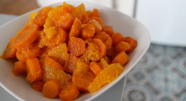 salade saine et à base de légumes cuits fraîche - Salade cuite de carottes à la fleur d'oranger