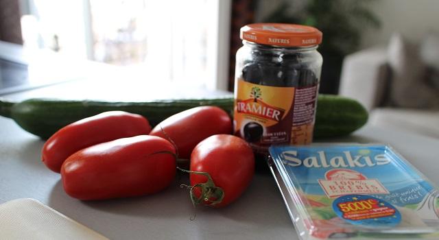 ingrédients de la Veggie pita à la grecque