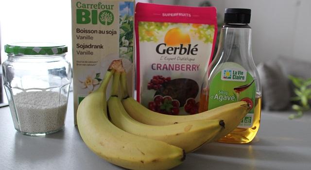 ingrédients du Healthy gâteau de soja aux super fruits