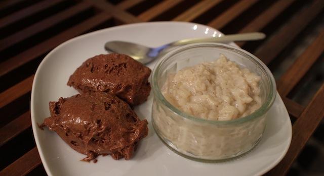 dessert mousse au chocolat et riz au lait - My Beautiful AirBnb Diner