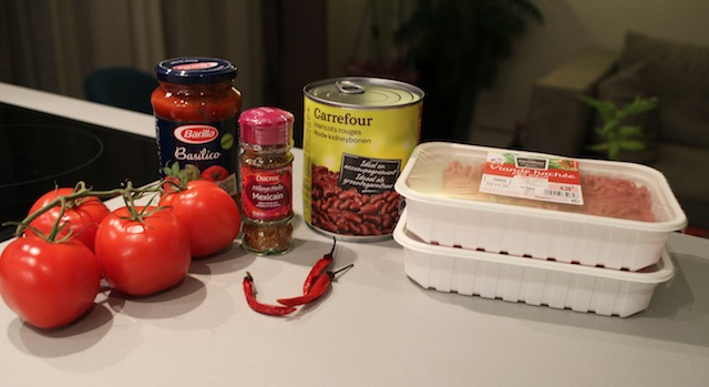 ingrédients Chili con carne - le symbole Tex-Mex