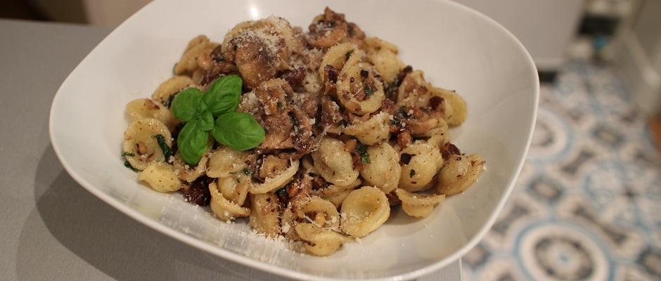 Recette facile Comfort Food Pasta noisettes basilic et parmesan