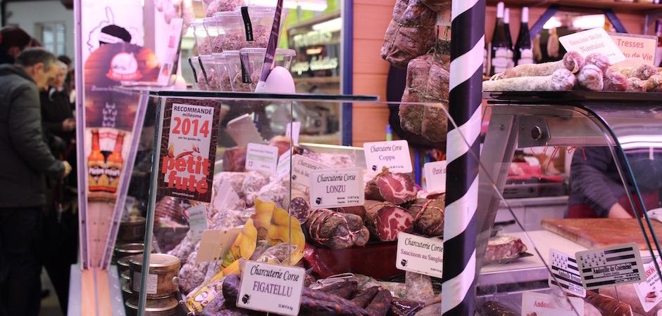charcuteries corses - Le marché de Talensac - la visite foodie à Nantes
