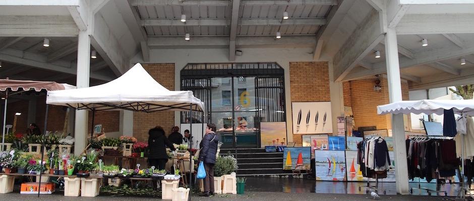 entrée du marché - Le marché de Talensac - la visite foodie à Nantes