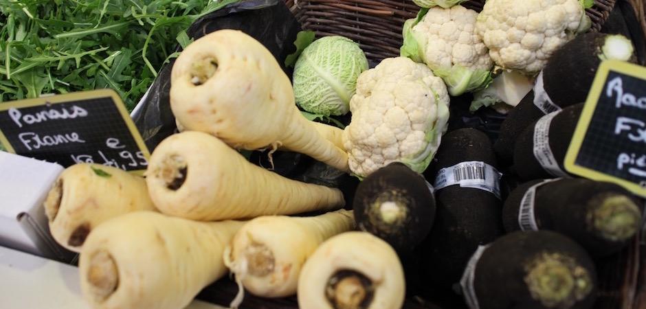 légumes français panais - Le marché de Talensac - la visite foodie à Nantes
