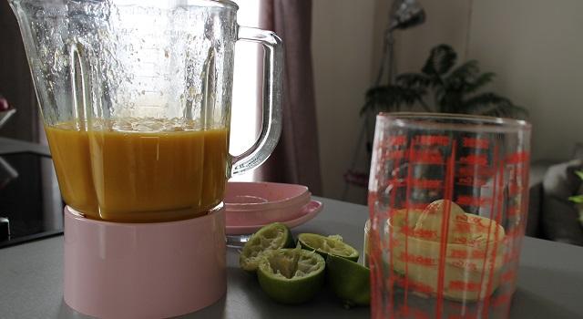 mixer avec le sirop de canne - Sorbet mangue maison