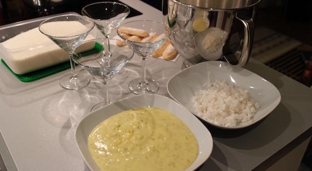 préparer le dressage du tiramisu - Tiramisu coco citron vert