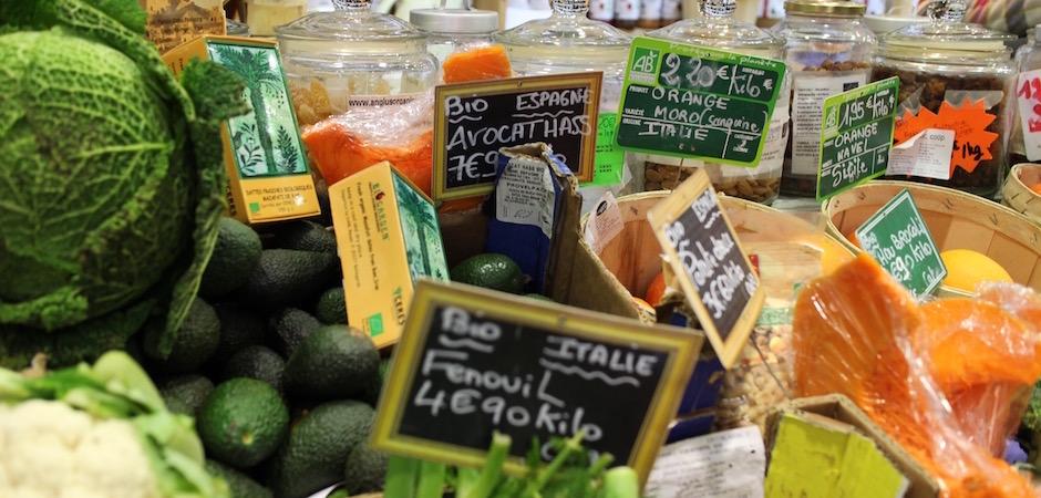 sélection de produits bio - Le marché de Talensac - la visite foodie à Nantes