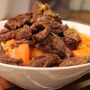 Recette - Bœuf sauté carottes orange gingembre