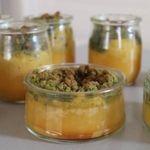 recette Crumble citron - pistache