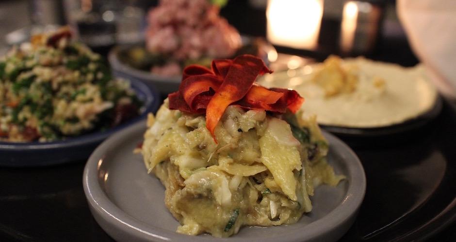 salade d'aubergines israelienne mezze - Maison Else - table tendance parisienne