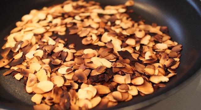 amandes torrefiees - Cabillaud lait d'amande et amandes grillées
