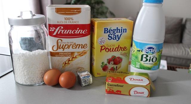 ingrédients Brioche maison rapide et facile