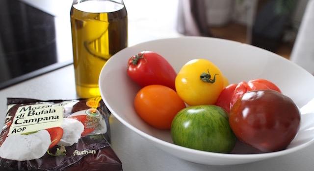 ingrédients de la Salade ensoleillée