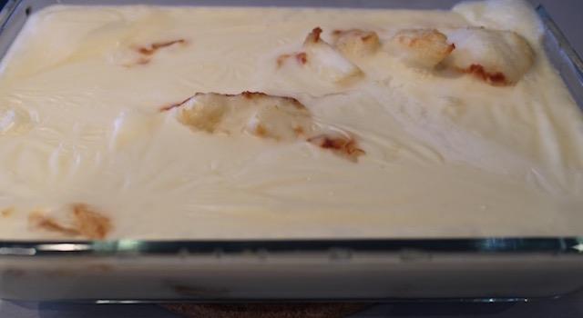 sortir le plat quand le poisson est cuit - Cabillaud lait d'amande et amandes grillées