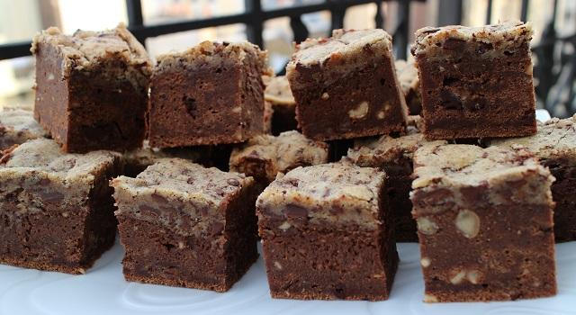 délicieux dessert régressif à la creme de marrons - Brookie - le gâteau de folie