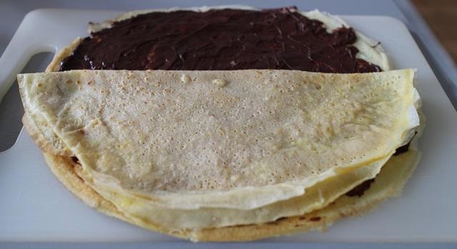 empiler les crêpes - Makis sucrés chocolat, orange, caramel