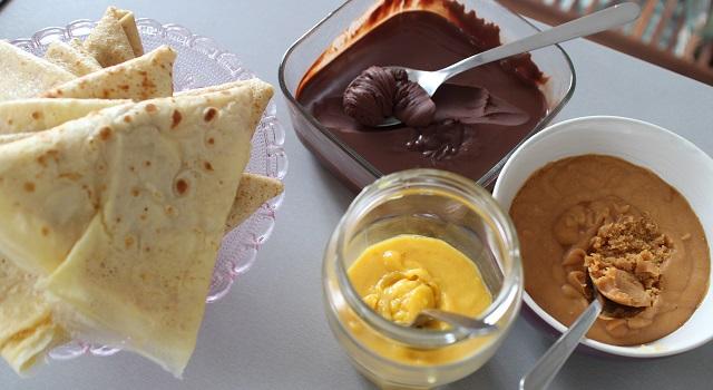 ingrédients Makis sucrés chocolat, orange, caramel