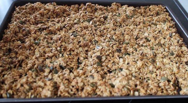 granola toasté et doré - Granola énergétique - acidulé