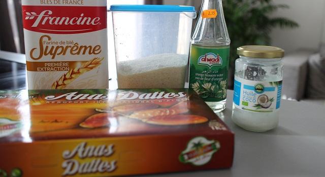 ingrédients Cornes de gazelle à IG bas