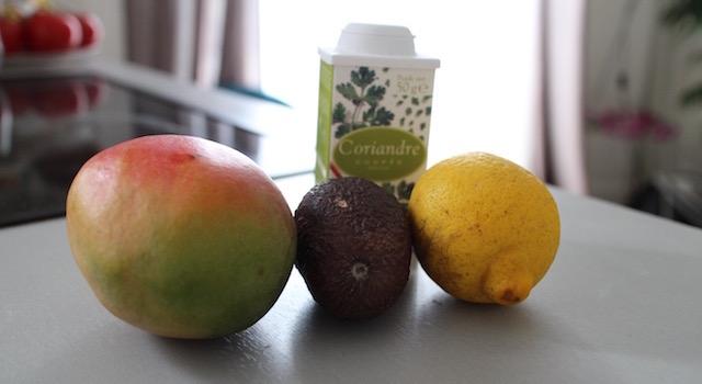 ingrédients Salade de mangue et avocat