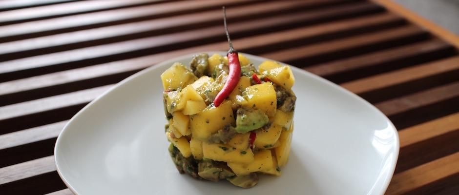 recette Salade de mangue et avocat