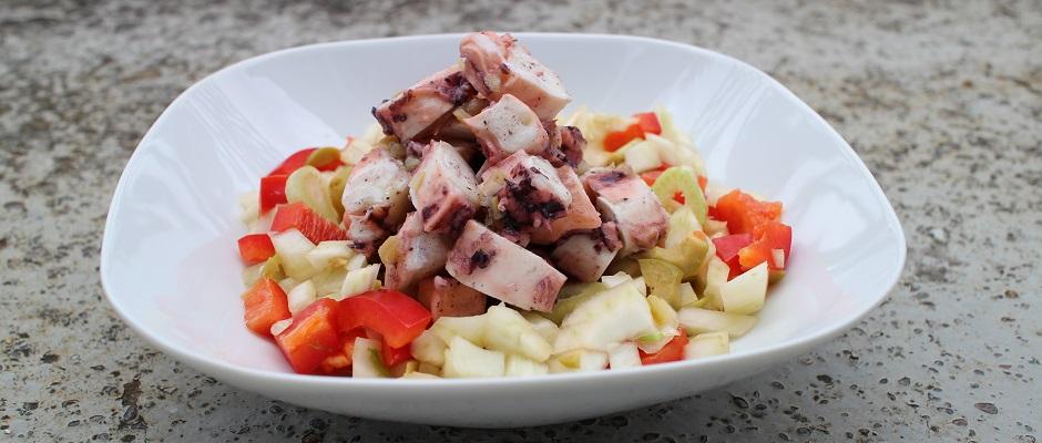 Recette Salade de poulpe au citron confit