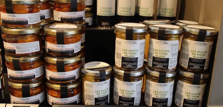 conserves de thon - Découverte la nouvelle grande épicerie de Paris