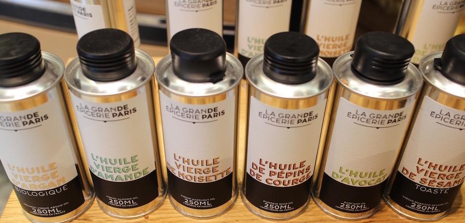 huiles végétales originales - Découverte la nouvelle grande épicerie de Paris