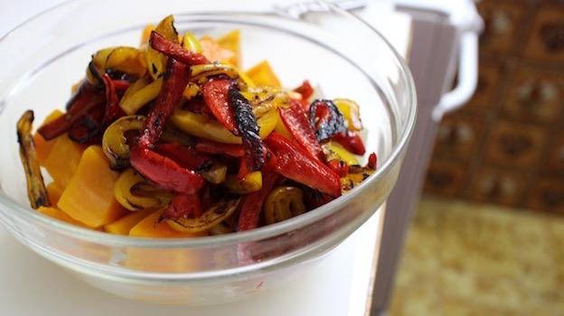 ajouter les poivrons - Saint Barth - salade créole