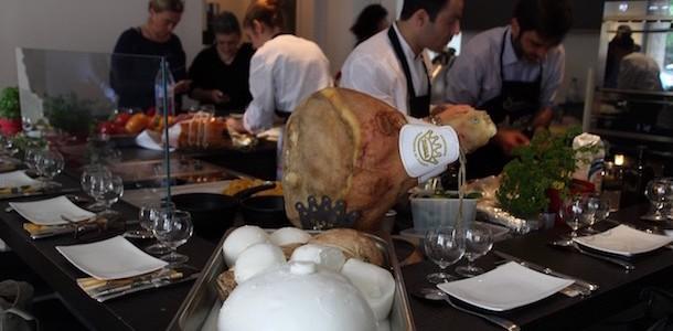 atelier Parmesan & jambon de Parme à l'Ambassade d'Italie
